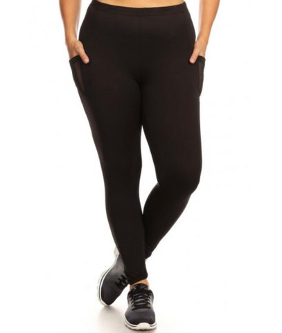KICK IT TIGHTS PLUS -BLACK
