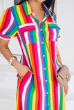 SKY RAINBOW COLOR DRESS - IntrigueFashions