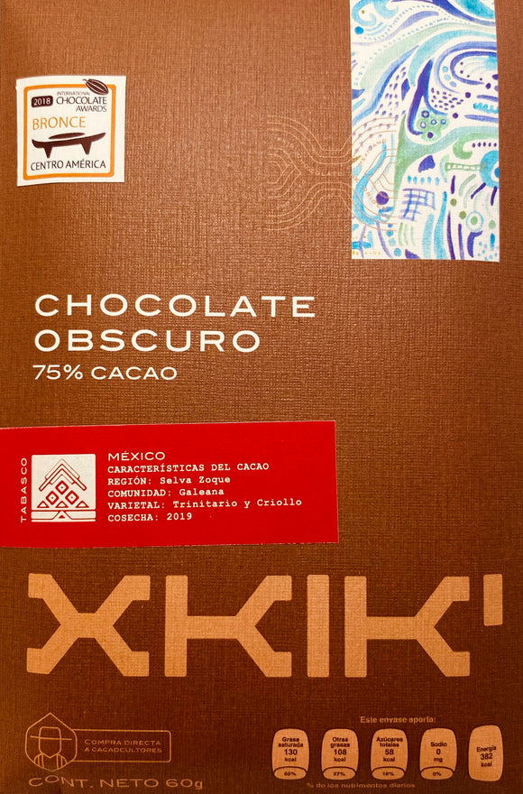 Chocolate Obscuro 75% Galeana