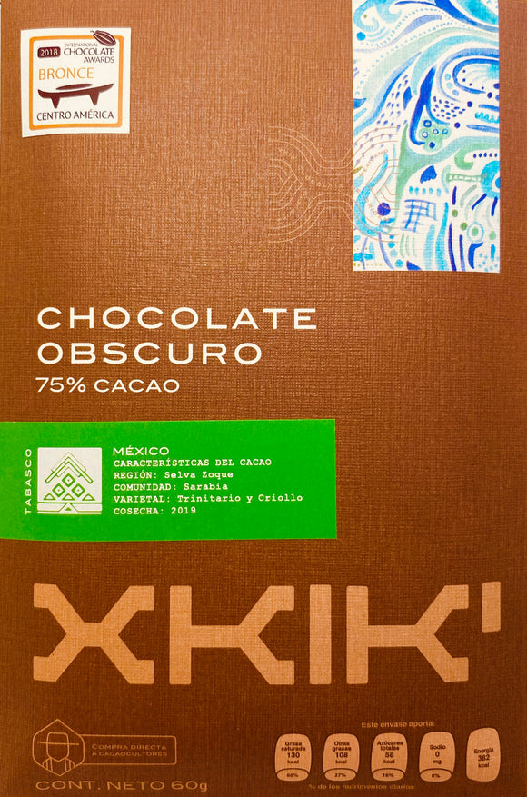 Chocolate 75% cacao Sarabia