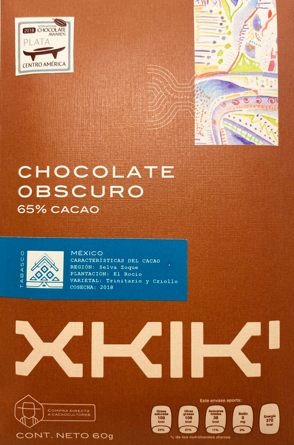 Chocolate obscuro 65% cacao Rocío