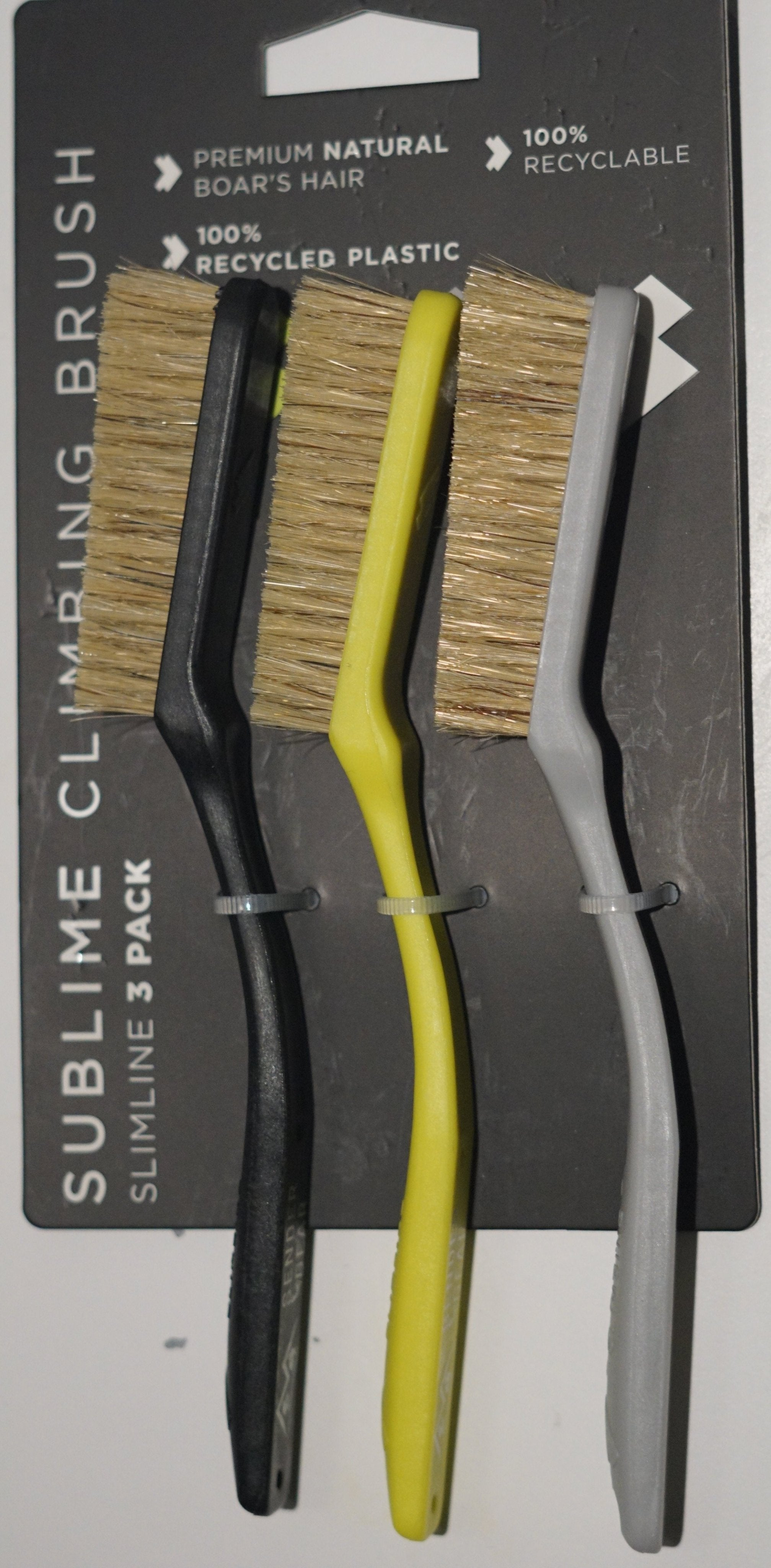 Slimline 3 pack Chalk Brushes - Black, Yellow, Grey