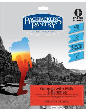 BackPackers Pantry - 6 pack - GRANOLA W MILK AND BANANAS - Sender Gear Canada