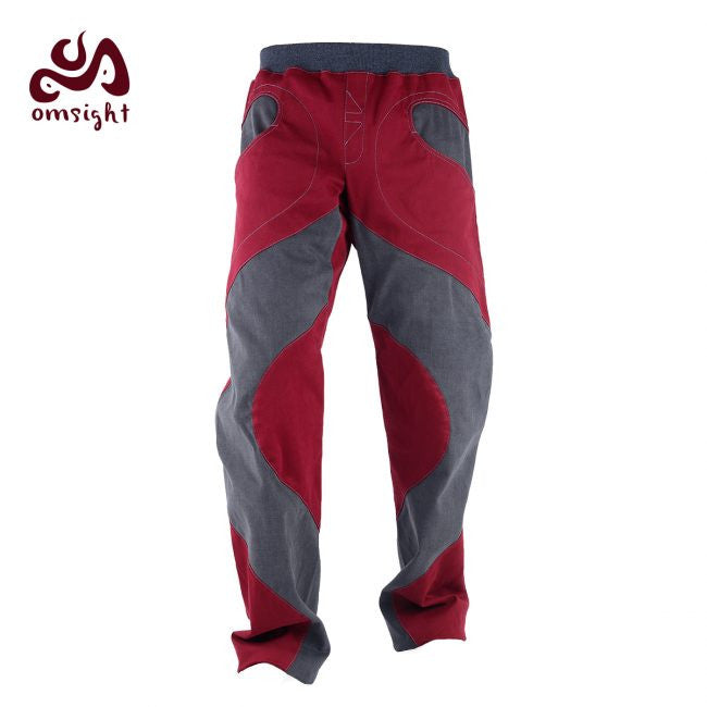 Omsight - Pants Mens - Wine / Dark Grey - Omsight