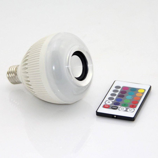 wireless bluetooth 12w led speaker bulb audio speaker e27 colorful. Black Bedroom Furniture Sets. Home Design Ideas