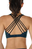 icyzone Women's Workout Yoga Clothes Strappy Crisscross Racerback Sports Bras