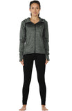 icyzone Workout Jackets for Women - Athletic Exercise Running Zip-Up Hoodie with Thumb Holes