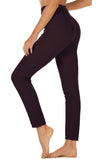 icyzone Women's Skinny Ankle Pants - Daily Pull-On Stretch Knit Leggings with Elastic Waistband
