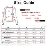icyzone Long Sleeve Workout Shirts for Women - Open Back Athletic Tops, Running Yoga Shirts with Thumb Holes