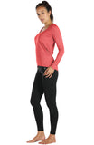 icyzone Long Sleeve Workout Shirts for Women-Women's Athletic Tops, Yoga Shirts, Thumb Hole Running Tops