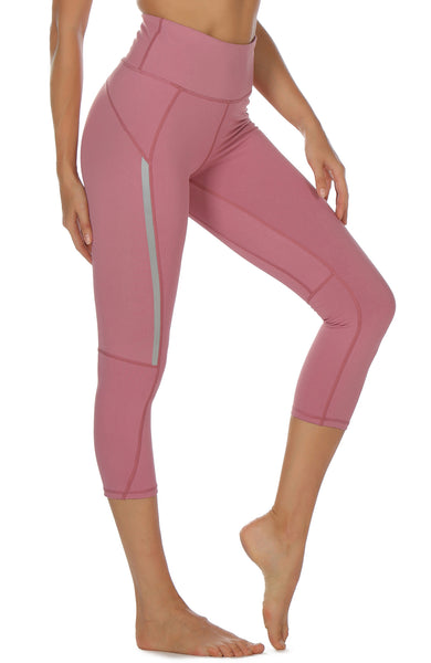 Workout Running Leggings Athletic Capris Gym Exercise Tights icyzone Yoga Pants for Women