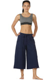 icyzone Womens Joggers Sweatpants - Athletic Lounge Cotton Terry Wide Leg Capri Pants with Pockets