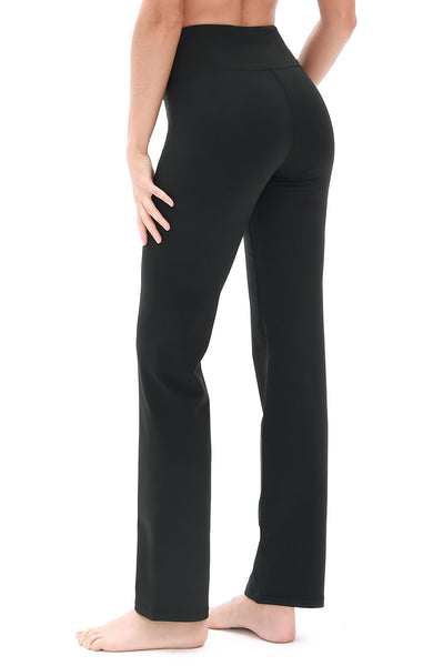 icyzone Bootcut Yoga Pants for Women - Tummy Control Workout Athletic Exercise Gym Leggings