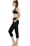 icyzone Workout Joggers Pants for Women - Athletic Exercise Capris Yoga Running Leggings with Pockets