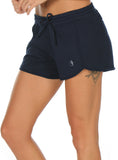 icyzone Athletic Lounge Shorts for Women - Running Jogging Workout Cotton Sweat Shorts