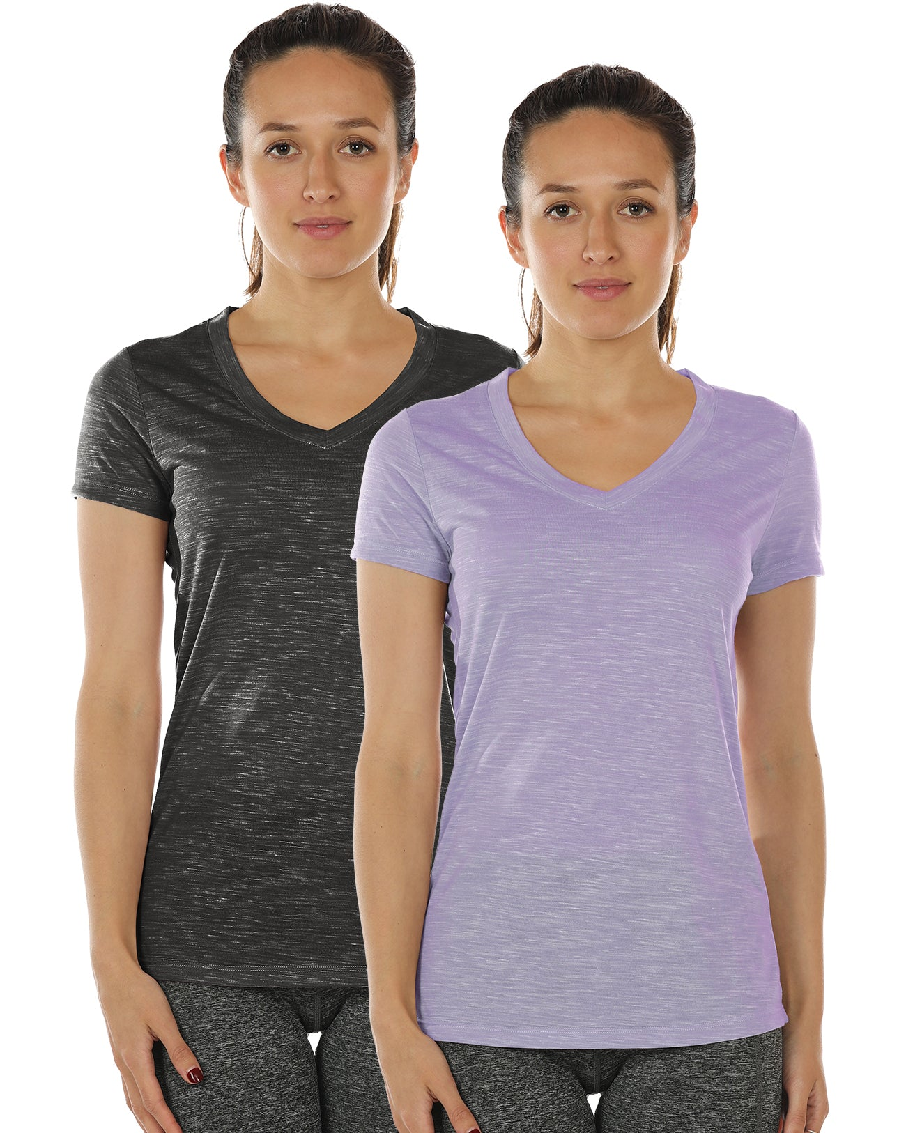3e6a169970 icyzone Workout Shirts for Women - Yoga Tops Activewear Gym Shirts Running  Fitness V-Neck