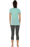icyzone Workout Shirts for Women - Yoga Tops Gym Clothes Running Exercise Athletic T-Shirts for Women