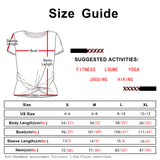 icyzone Workout Shirts for Women - Yoga Tops Gym Clothes Running Exercise Athletic Tie Front T-Shirts