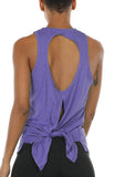 icyzone Open Back Workout Tank Top Shirts - Activewear Exercise Athletic Yoga Tops Women