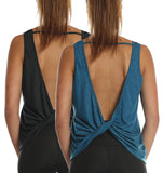 icyzone Workout Tank Tops for Women - Open Back Strappy Athletic Tanks, Yoga Tops, Gym Shirts