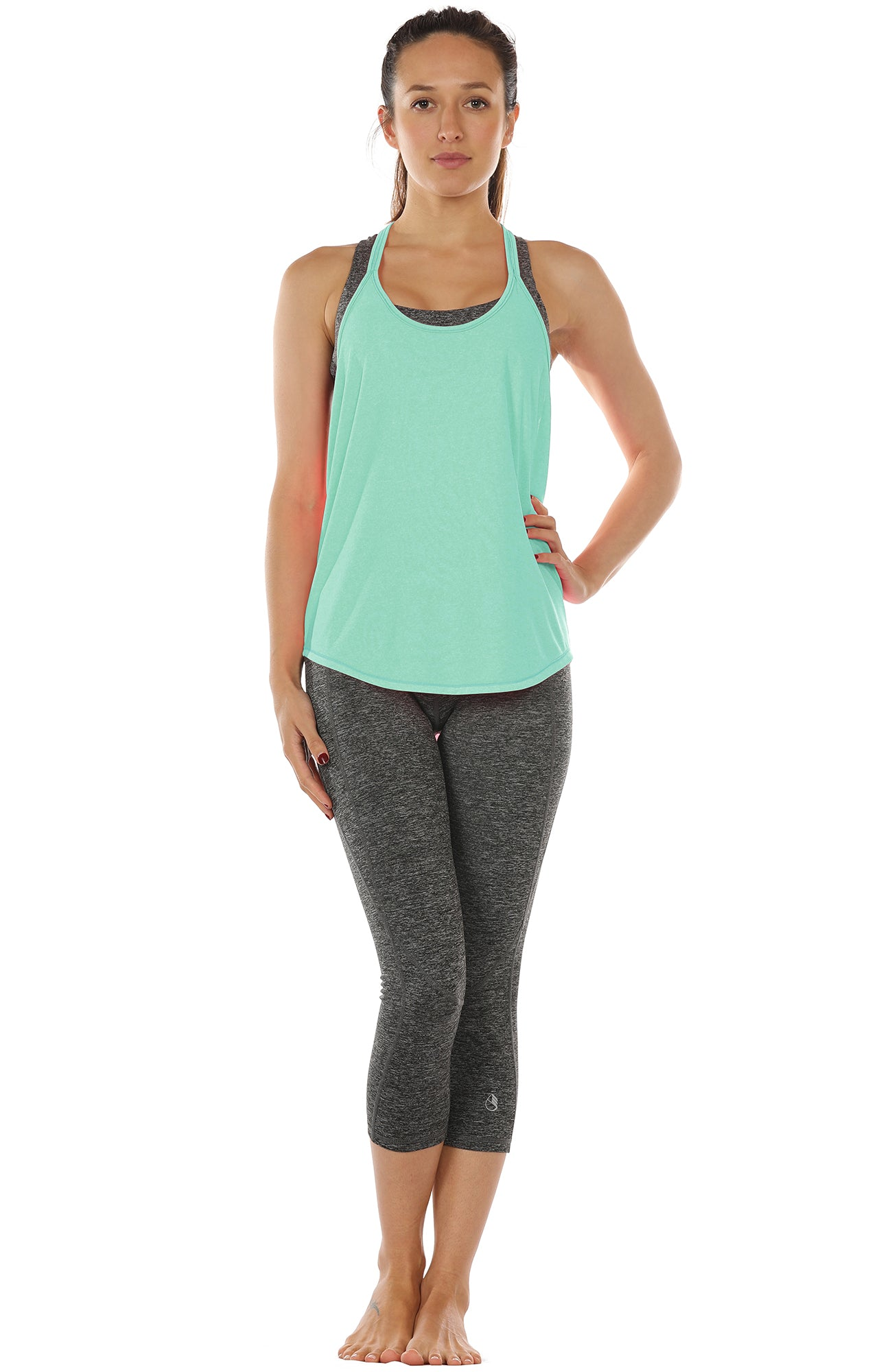 Athletic Yoga Tops T-Back Running Tank Top icyzone Workout Tank Top for Women