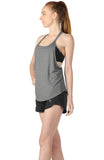 icyzone Workout Tank Tops with Built in Bra - Women's Strappy Athletic Yoga Tops, Running Exercise Gym Shirts