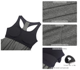 icyzone Workout Tank Tops Built in Bra - Women's Athletic Running Yoga Tops, Gym Shirts