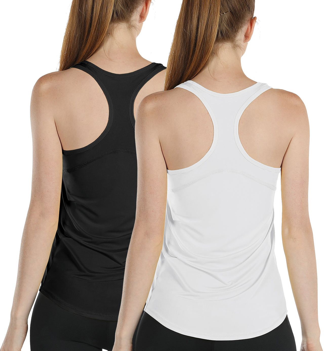 icyzone Workout Tank Tops for Women - Athletic Yoga Tops, Racerback Running Tank Top, Exercise Gym Shirts (Pack of 2)