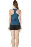 icyzone Workout Tank Tops for Women - Athletic Training Racerback Yoga Tops, Running Gym Exercise Shirts (Pack of 2)
