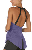 icyzone Athletic Tank Tops for Women - Workout Open Back Tanks, Yoga Tops, Gym Shirts