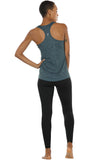 icyzone Activewear Running Workouts Clothes Yoga Racerback Tank Tops for Women (Pack of 3)
