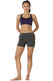 icyzone Workout Running Shorts Women - Yoga Exercise Athletic Shorts Capris