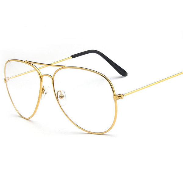 Classic Gold Frame Clear Glasses