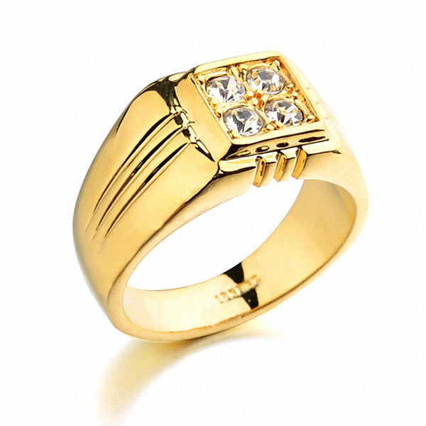 Italina Austria Crystal 18K Gold Plated Ring