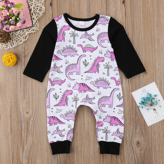 85a839c20 Baby Girls Dinosaur Long Sleeves Romper Jumpsuit – Tilly's Boutique