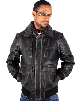 Aviatrix Men's Jackson Vintage Flight Pilot Flying Jacket