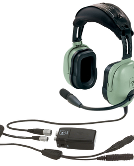 David Clark Dc X11p Panel Anr Enc Aviation Pilot Headset