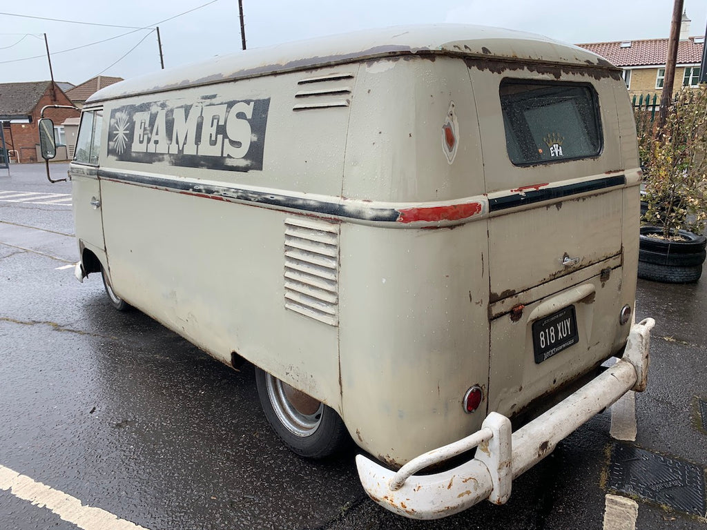 Split Screen Patina'd Panel Van