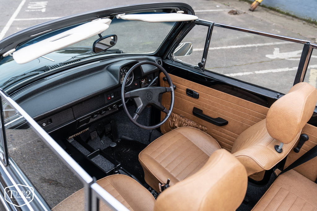 For Sale - Only 17,000 miles from new 1978 RHD Black Karmann Convertible Beetle