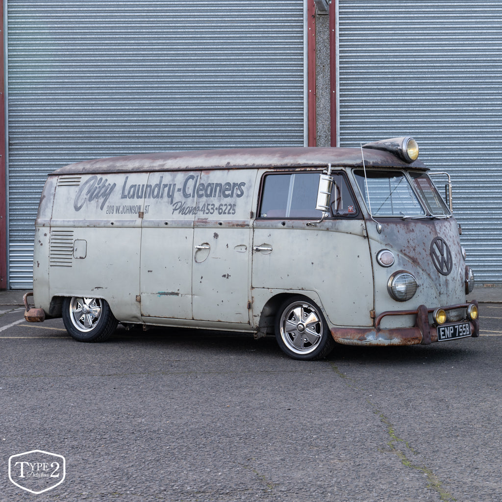 "1963 City ""Laundry Cleaners"" Patina'd Panel Van"