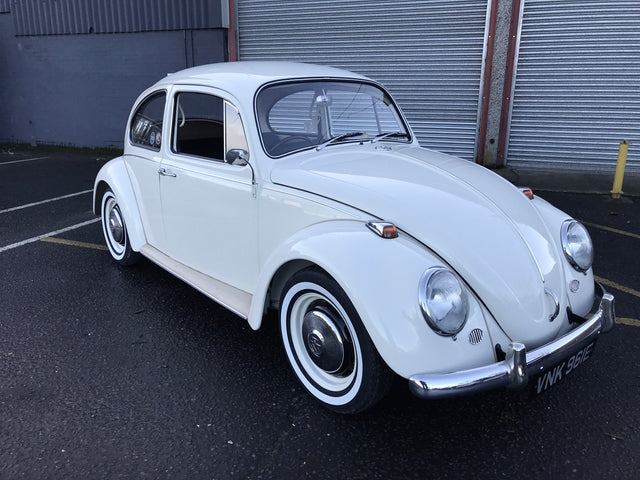 1967 Right Hand Drive White Beetle
