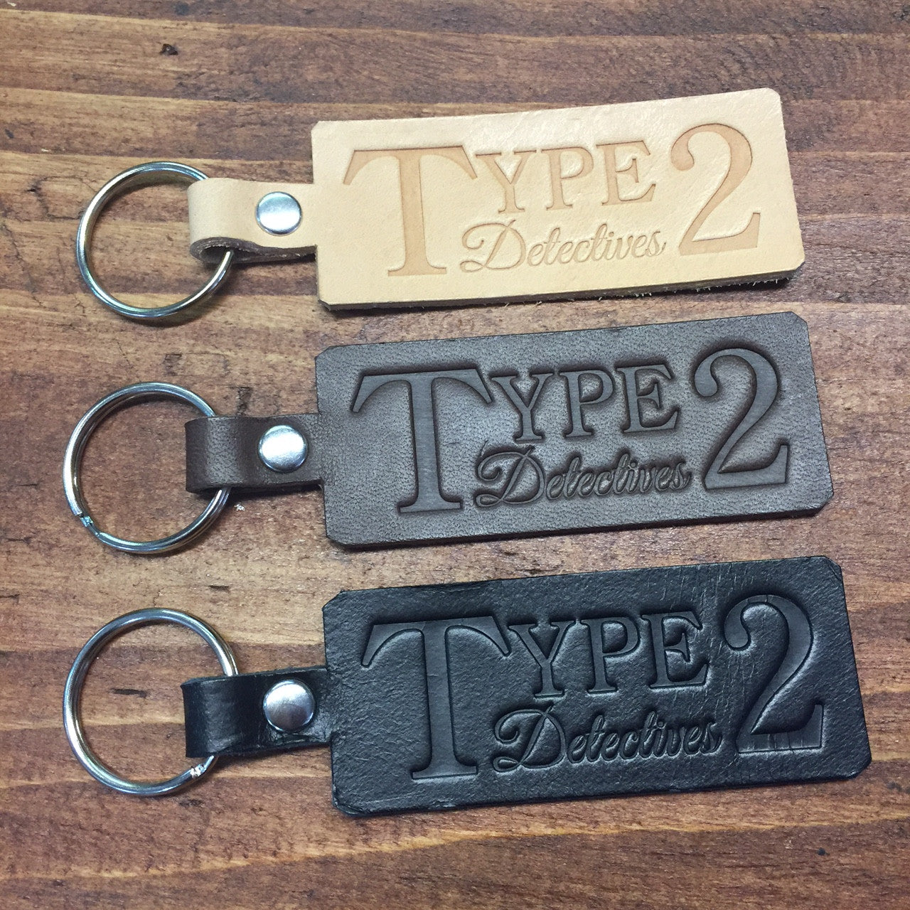 Hand made leather keyring - Type 2 Detectives 505c697f4c37