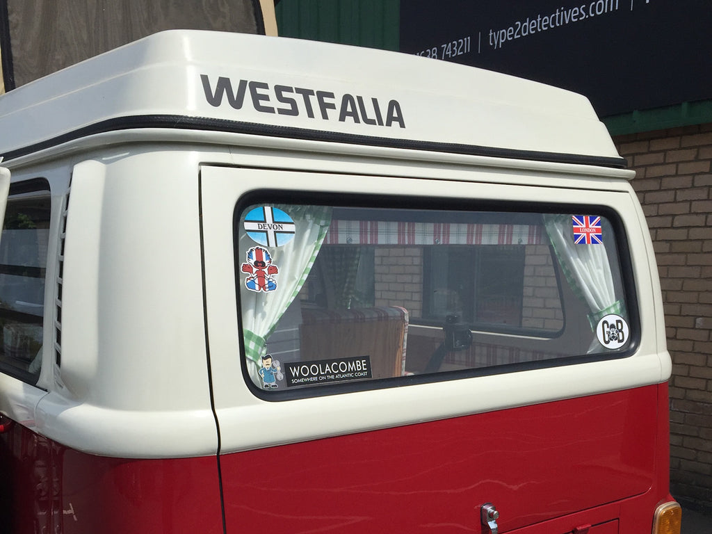 1974 Dark Red Bay Window Westfalia