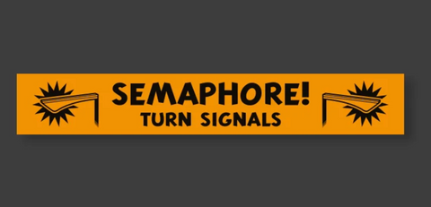 Auto Wares - SEMAPHORE TURN SIGNALS MAGNET OR STICKER
