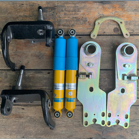 SPECIAL OFFER Late Bay (1974-79) Lowering Kit Bilstein Front Shock Absorbers, Dropped Spindles and Rear Adjustable Spring Plates