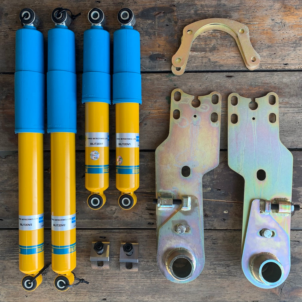 SPECIAL OFFER Bilstein Front and Rear Shock Absorbers and Beam Adjuster and Adjustable Rear Spring plates (Bay Window)