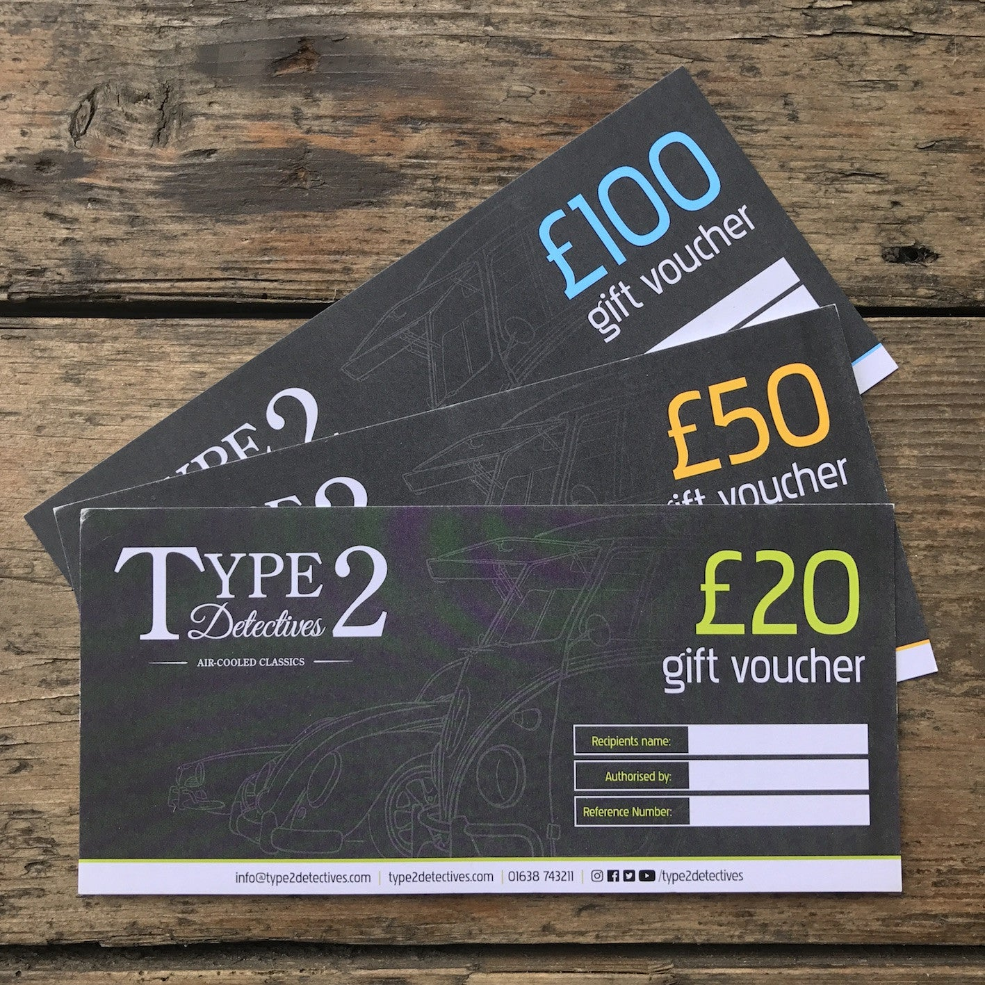 Type 2 Detectives Gift Vouchers