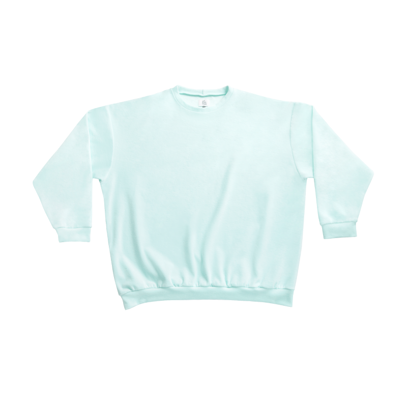 Shy Vibes Club Sweat Shirt Mint GOTS-certified Organic Cotton