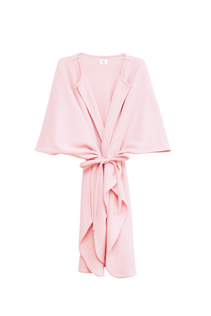 Shy Vibes Club Power Poncho Pink Ecological Wool