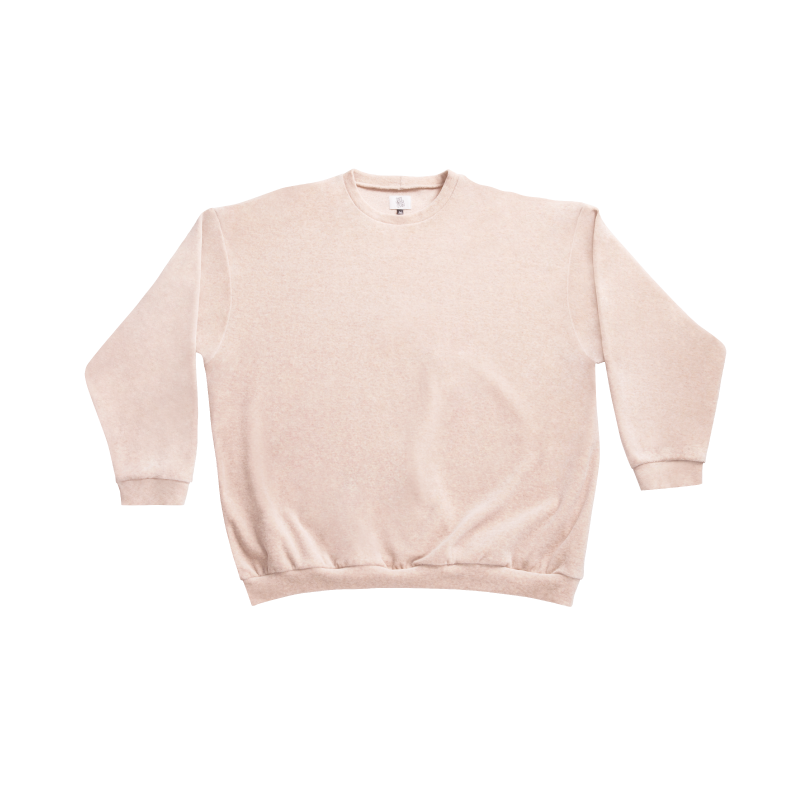 Shy Vibes Club Sweat Shirt Nude GOTS-certified Organic Cotton